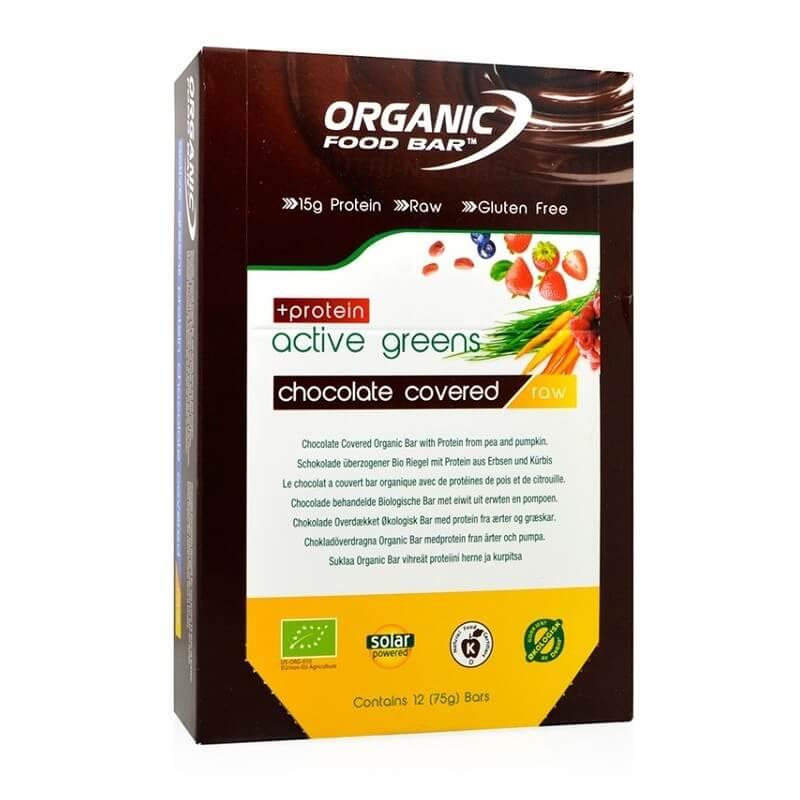 barres vegan protéinées et bio Organic Food Bar