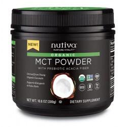 poudre MCT 100% bio avec fibre d'acacia bio de NUTIVA