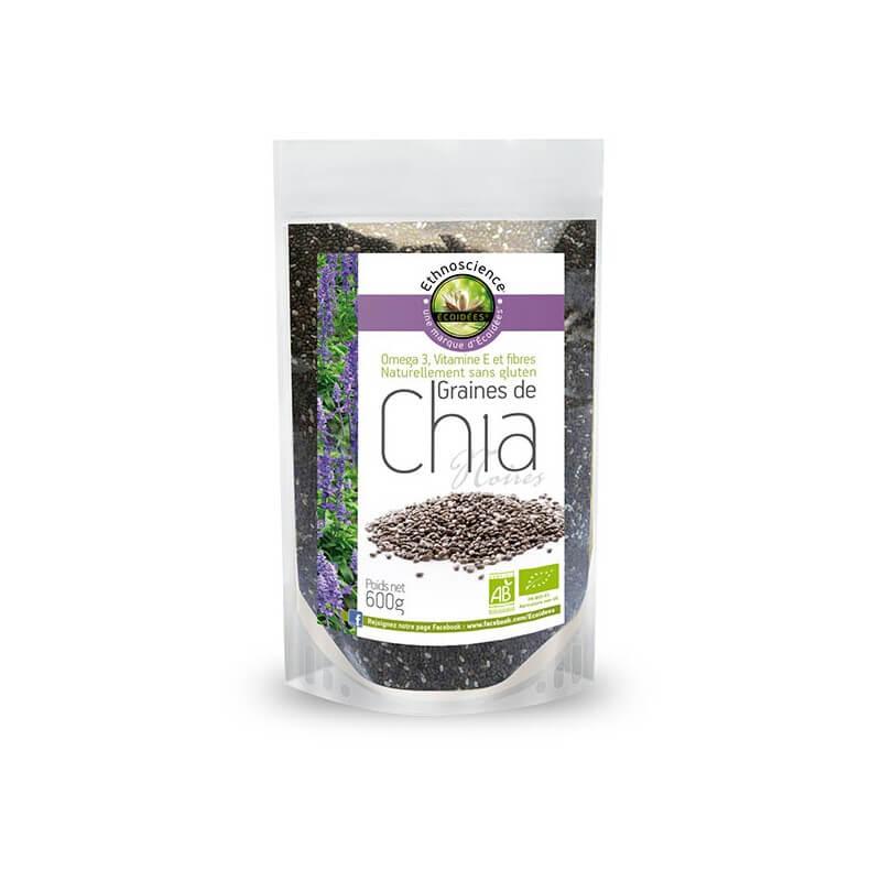 Graines de chia biologiques riche en oméga-3 et en fibres