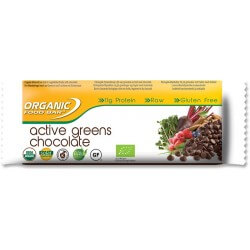 Barres vegan biologique Organic Food Bar - ACtive Greens chocolat