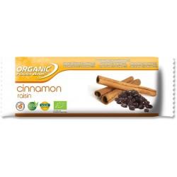 Organic Food Bar - cinnamon raisin - barres cannelles biologiques vegan et crues