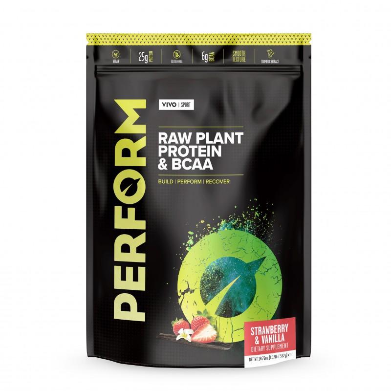 VIVO LIfe  BCAA Vegan Perform Fraise Vanille protéines végétales bio