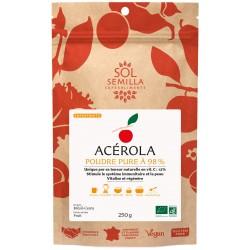 Acerola pure 12% de vitamine C  de Sol Semilla - 250g