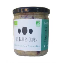 choucroute bio crue aux algues  riche en iode et non pasteurisée des Jarres Crues