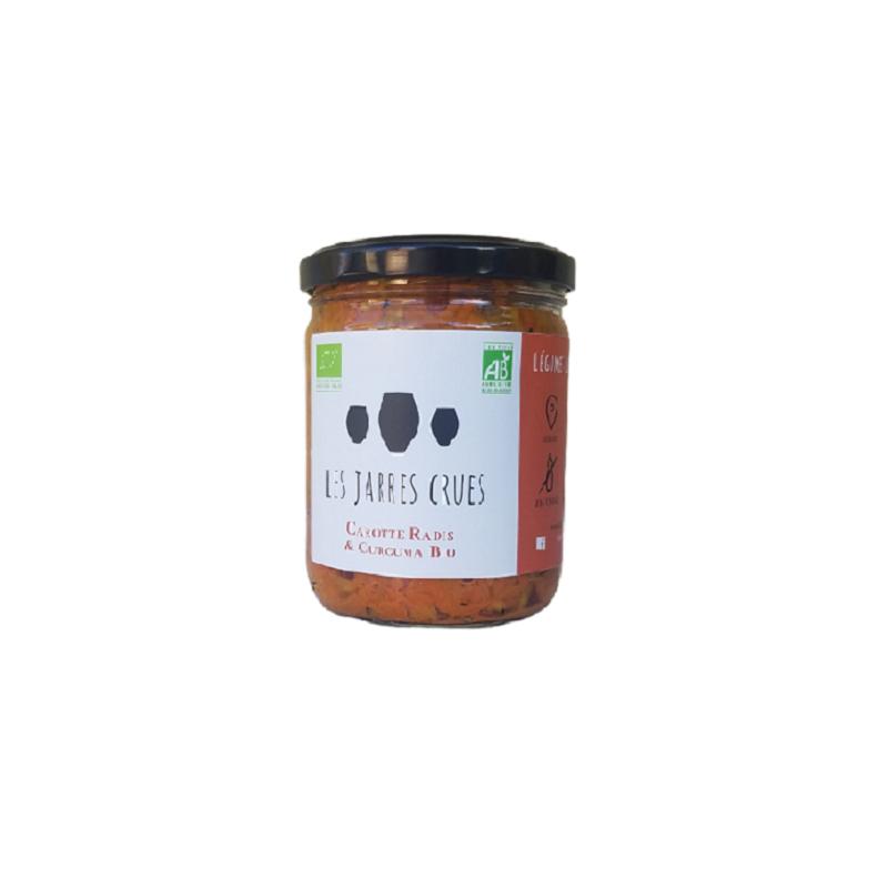 légumes lacto-fermentés non pasteurisés bio des Jarres Crues - carottes et radis lactofermentés