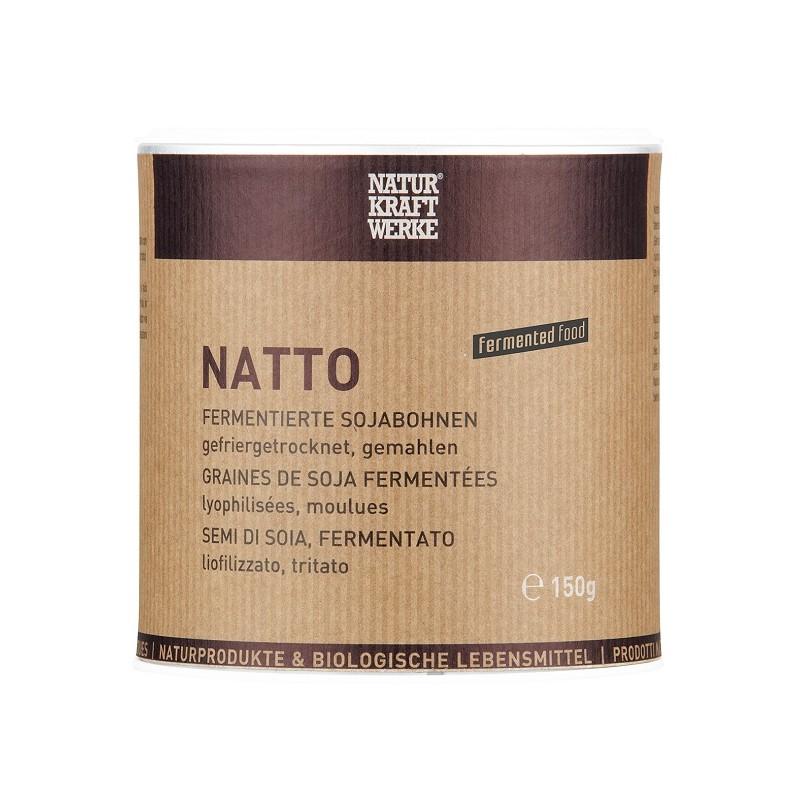 Véritable Natto de graines de soja  fermenté moulues élaboré selon la méthode traditionnelle ancestrale japonaise.