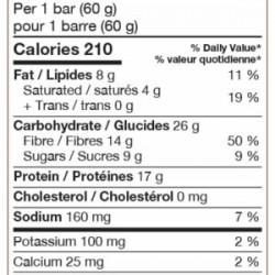 barre vegan bio protéines végétales de pois et riz de Nature Zen - au cacao