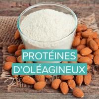 Protéine d'amandes bio et autres oléagineux comme les noix de cèdre